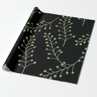 Olive Twigs Wrapping Paper