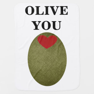 Olive You Baby Blanket