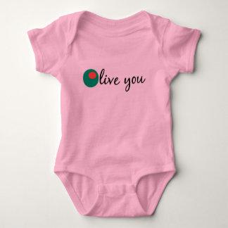 Olive You Baby Bodysuit