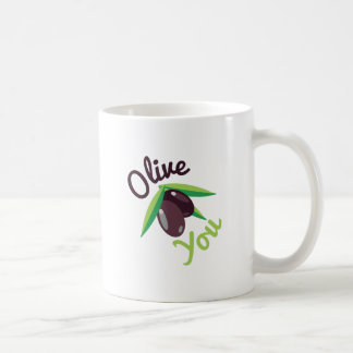 Olive You Basic White Mug