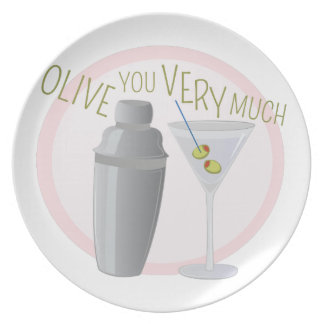 Olive You Dinner Plate