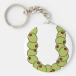 """Olive You """"I Love You"""" Basic Round Button Key Ring"""