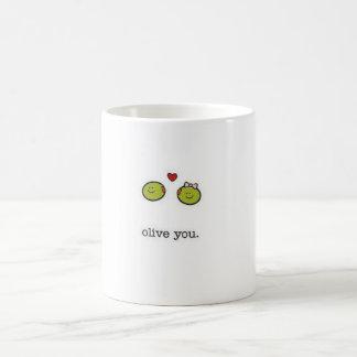 Olive You Basic White Mug