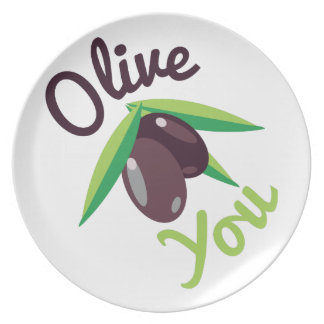 Olive You Plate