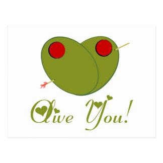Olive You! Postcard