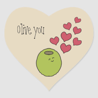 """Olive You"" Pun Sticker"