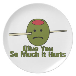 Olive You So Much It Hurts Plate