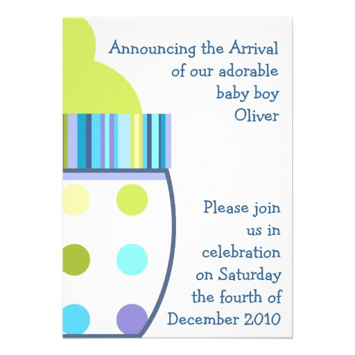 Oliver Baby Bottle Announcements