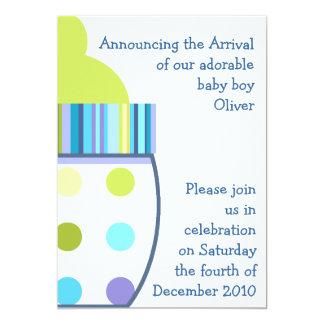 Oliver Baby Bottle 13 Cm X 18 Cm Invitation Card