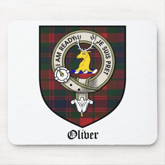 Oliver Clan Crest Badge Tartan Mouse Pad