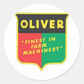 Oliver Classic Round Sticker