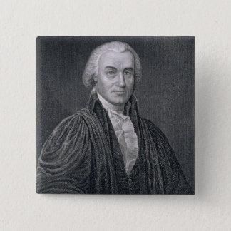 Oliver Ellsworth, engraved by E. Mackenzie (engrav 15 Cm Square Badge