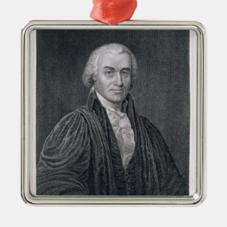 Oliver Ellsworth, engraved by E. Mackenzie (engrav Silver-Colored Square Decoration