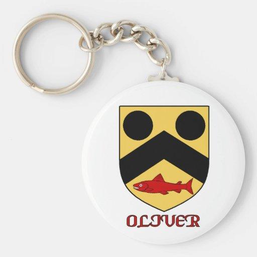 Oliver Family Shield Keychain