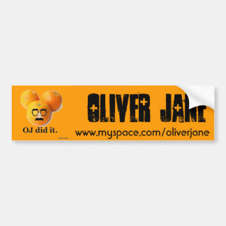 Oliver Jane Bumper Sticker