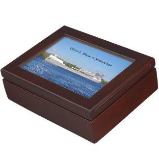 Oliver L. Moore & Menominee keepsake box