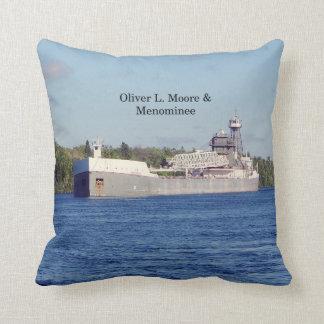 Oliver L. Moore & Menominee square pillow