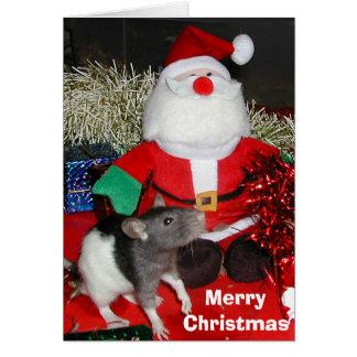 Oliver meets Santa Greeting Card
