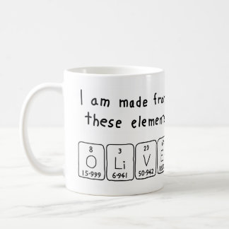 Oliver periodic table name mug