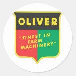 Oliver Round Stickers