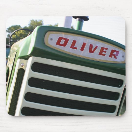 Oliver tractor decal colourful mousepad gift idea