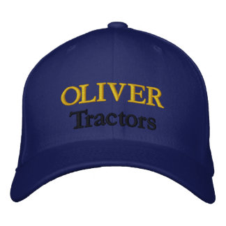 Oliver Tractors Lawnmowers Mowers Antique Farm Embroidered Baseball Caps
