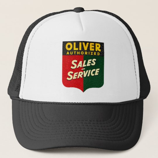 oliver Tractors vintage sales and service sign Trucker