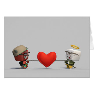 Oliver & Trouble Tugging Heartstrings Card
