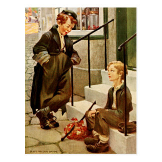 Oliver Twist and the Artful Dodger Postcard