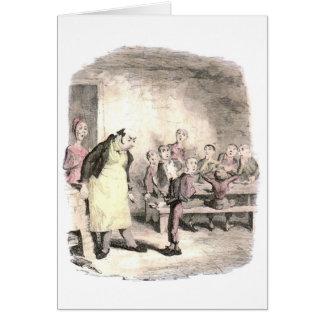Oliver Twist Asks for More Card