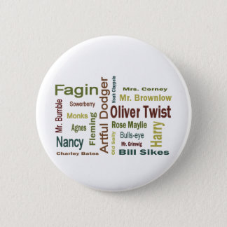 Oliver Twist Characters 6 Cm Round Badge