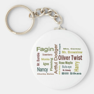 Oliver Twist Characters Basic Round Button Key Ring