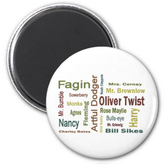 Oliver Twist Characters Fridge Magnets