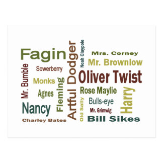 Oliver Twist Characters Postcard