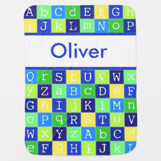 Oliver's Personalized Blanket Receiving Blankets