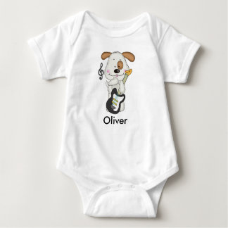 Oliver's Rock and Roll Puppy Baby Bodysuit