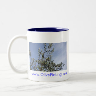 Olives Against A Blue Sky Two-Tone Coffee Mug