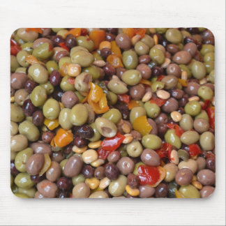 Olives and Chillies Mouse Pad