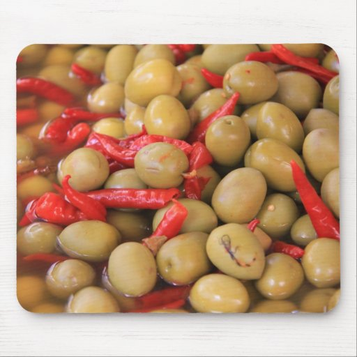 Olives and Chillies Mousepad