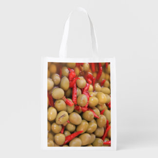 Olives and Chillies Reusable Bag