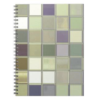 Olives & Eggplants Tiles Mosaic Custom Notebook