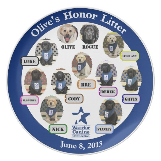 Olive's Honour Litter Collectable Plate