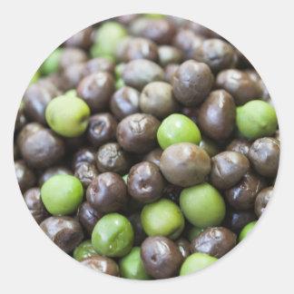 olives in brine round sticker