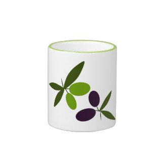 Olives Ringer Coffee Mug