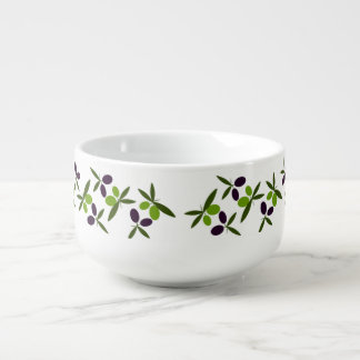 Olives Soup Bowl With Handle
