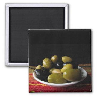 Olives Square Magnet