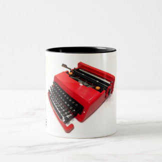 Olivetti Valentine typewriter Two-Tone Coffee Mug
