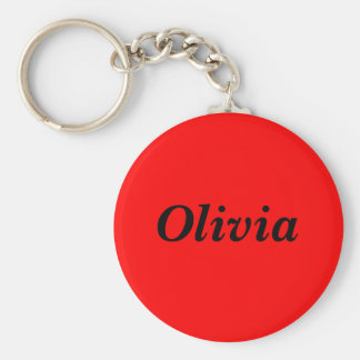 Olivia Basic Round Button Key Ring
