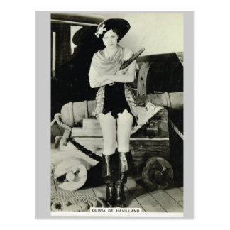 Olivia de Haveilland Postcard