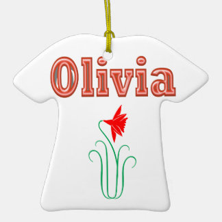 OLIVIA  Girl Name Text Ornaments